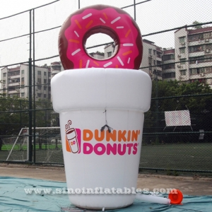 custom shape advertising inflatable coffee cup