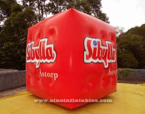 cube inflatable helium advertising balloon