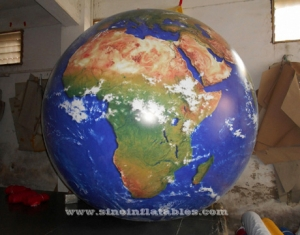 world map advertising inflatable balloon