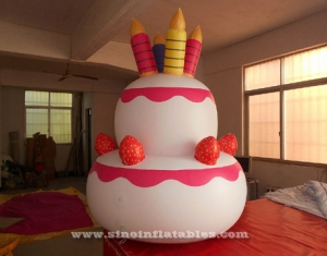 cake shape advertising inflatable helium balloon