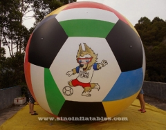 world cup advertising inflatable helium balloon