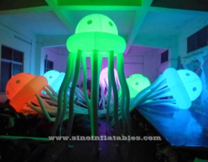 inflatable jellyfish with LED lights