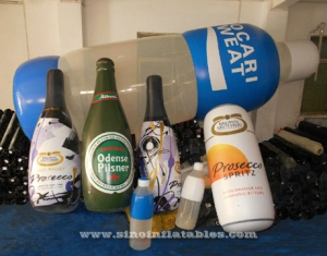 Custom size giant inflatable beer bottle with full digital printing