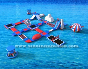 giant auqa amusement inflatable water park