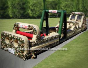adults boot camp inflatable obstacle course
