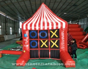 inflatable 4 spot game and tic tac toe
