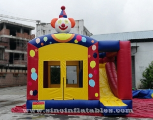 clown inflatable bouncy castle with slide