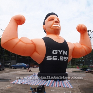 removable GYM inflatable muscle man