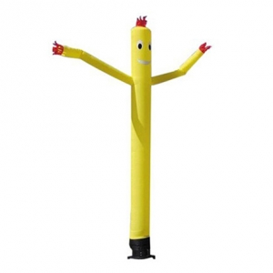 yellow clown inflatable sky dancer