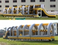 24m long big challenge adults inflatable obstacle course