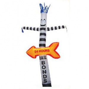 Arrow advertising inflatable wind man