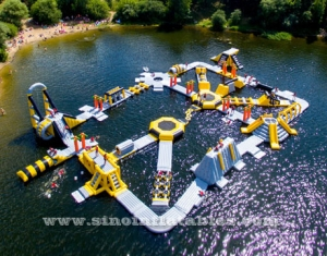 adults giant inflatable floating water park