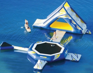 kids N adults inflatable floating water island