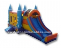 kids inflatable patriotic bounce house with slide