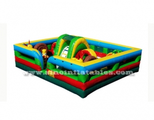 kids inflatable toddler playground with obstacles