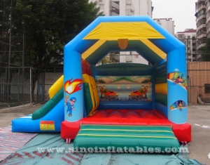 kids inflatable combo bouncy castle with slide