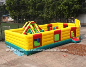 big kids inflatable amusement park with slide