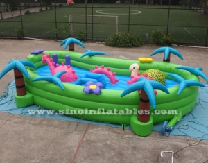 kids dino lake inflatable toddler playground