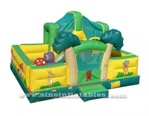 Indoor big forest inflatable toddler playground