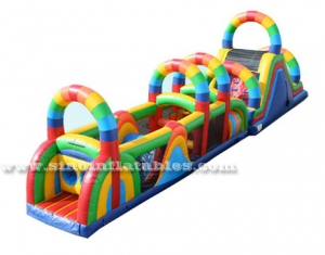 children boot camp inflatable interactive game
