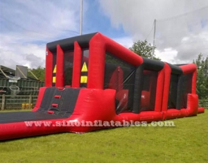 kids N adults wipeout inflatable obstacle course