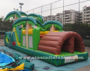kids jungle inflatable obstacle course