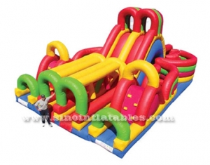 kids giant inflatable obstacle course with slide