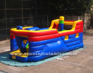 kids interactive pirate ship inflatable obstacle course