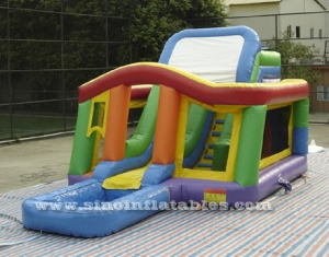 kids inflatable bounce house with slide N pool