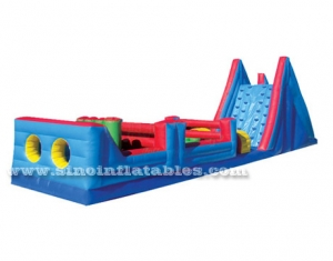 long commercial adult inflatable obstacle course