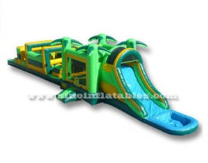 Kids jungle inflatable combo obstacle course