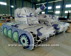giant camo inflatable tank paintball bunker