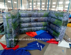 moss brick inflatable air paintball wall