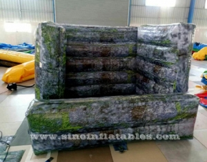 brick printing paintball wall inflatable