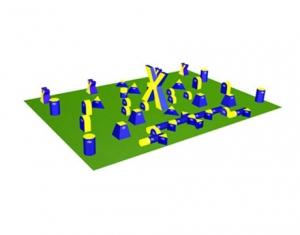 Inflatable Archery Tag Paintball Bunkers