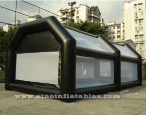 blow up enclosed inflatable football court