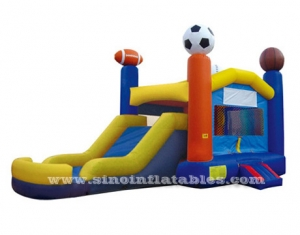 kids party sports inflatable bouncy castle