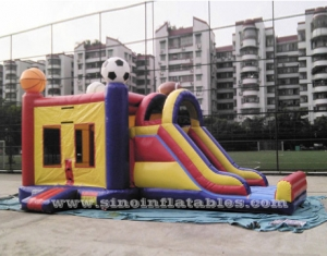 kids football inflatable bounce house with slide