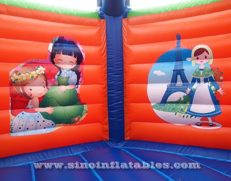 kids crocodile inflatable bouncy castle with slide