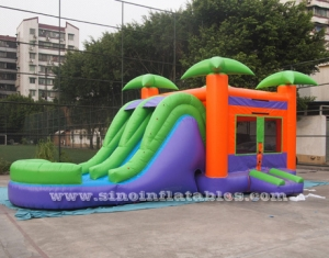kids inflatable water jumping castle with slide