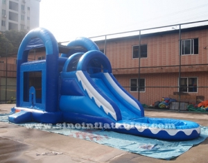 wave kids inflatable water combo with netting