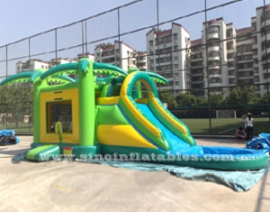 kids inflatable water combo with basketball hoop