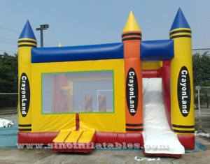 crayonland kids combo inflatable bounce house with slide