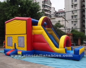 kids module inflatable bouncy castle with slide