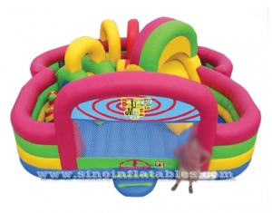 rainbow children party inflatable playground