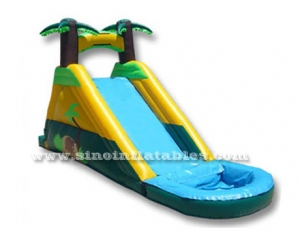 tropical palm tree kids inflatable water slide