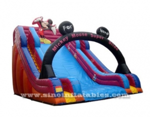high kids Mickey mouse inflatable slide