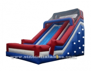 giant Patriotic stars inflatable slide