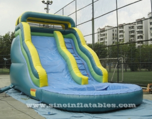 tropical kids inflatable water slide