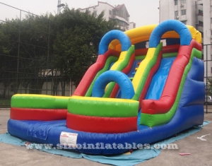 big double lane inflatable slide with arch